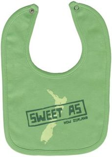 Baby Bib Sweet As Green