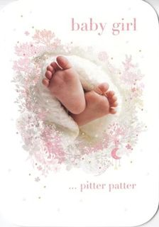 Baby Girl Card Pretty Feet