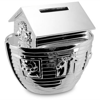 Baby's Noah' Ark Money Box Silver Plated
