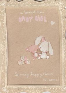 Brand New Baby Girl Card
