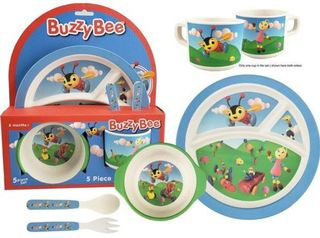 Buzzy Bee Bamboo Meal Set
