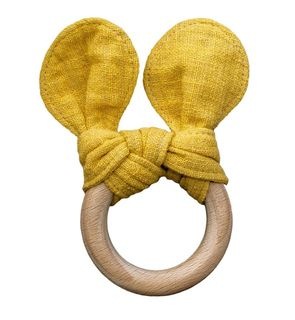 Mustard Bear Teether by Lily & George