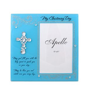 My Christening Day Photo Frame Blue