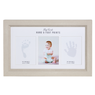 My First Hand and Foot Prints Baby Frame