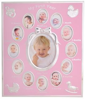My First Year Photo Frame Pink