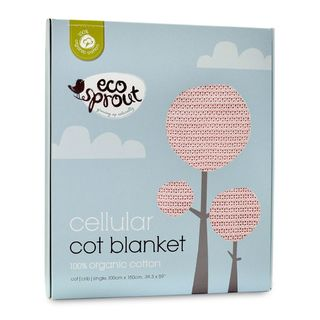 Organic Cotton Cellular Blanket Pink