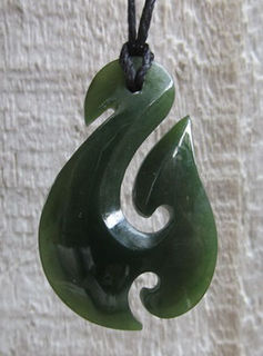 Small Greenstone Hook for Baby