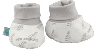 Baby Booties Cream Fern