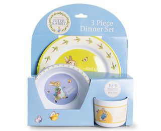 Peter Rabbit 3 Piece Dinner Set