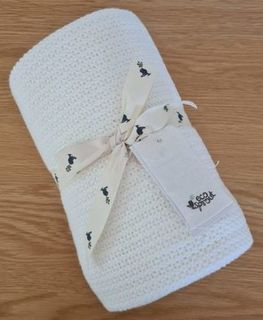 Organic Cotton Cellular Baby Cot Blanket
