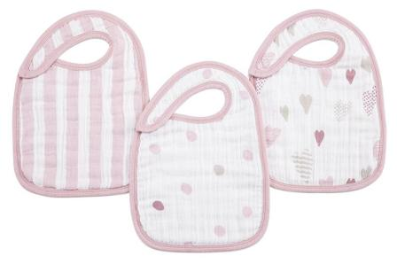 Aden +  Anais Snap Bibs Heart Breaker 3 pack