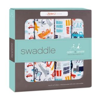 Aden + Anais Pup in Tow Swaddle 4 pack