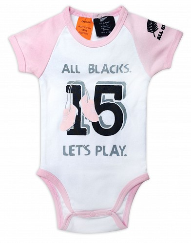 All Blacks Baby Pink Bodysuit