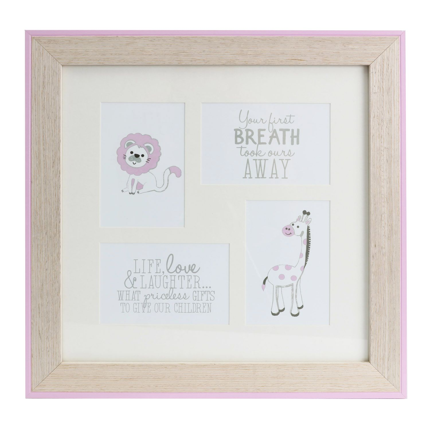 Baby Collage Frame Pink