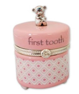 Baby First Tooth Keepsake Box Pink