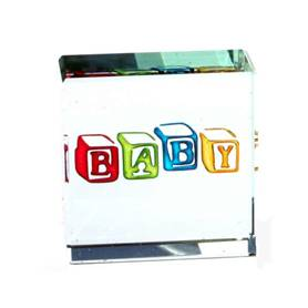 Baby Glass Block Keepsake