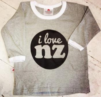 Baby T shirt I Love NZ