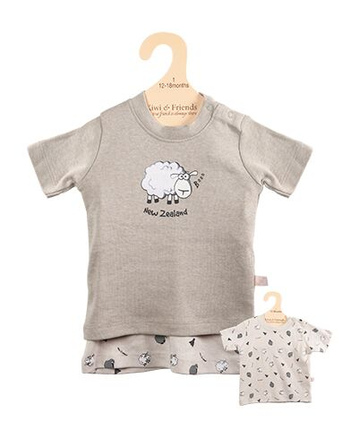 Baby T shirt Set Sheep and Kiwi