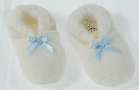 Snuggly's Merino Wool Booties Size 0-6 months - Blue, Pink or White