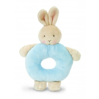 Bunny Ring Rattle - Blue or Pink