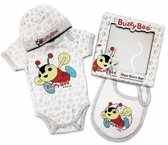 Buzzy Bee New Born 3 Piece Gift Set