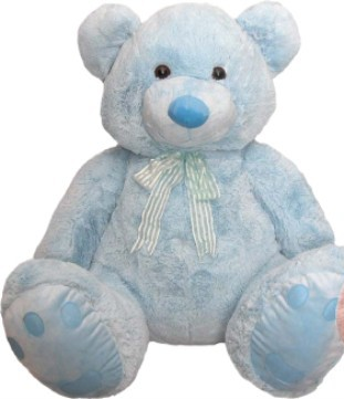 Jumbo Blue Teddy Bear for Baby