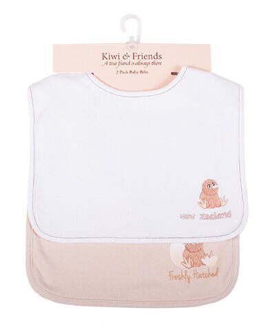 Kiwi and Friends Bib Set White and Beige
