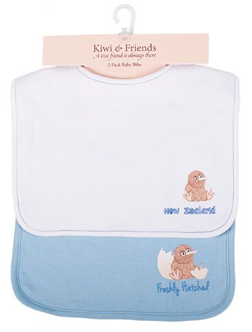 Kiwi and Friends Bib Set White and Blue