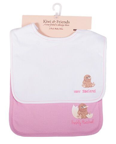 Kiwi and Friends Bib Set White and Pink