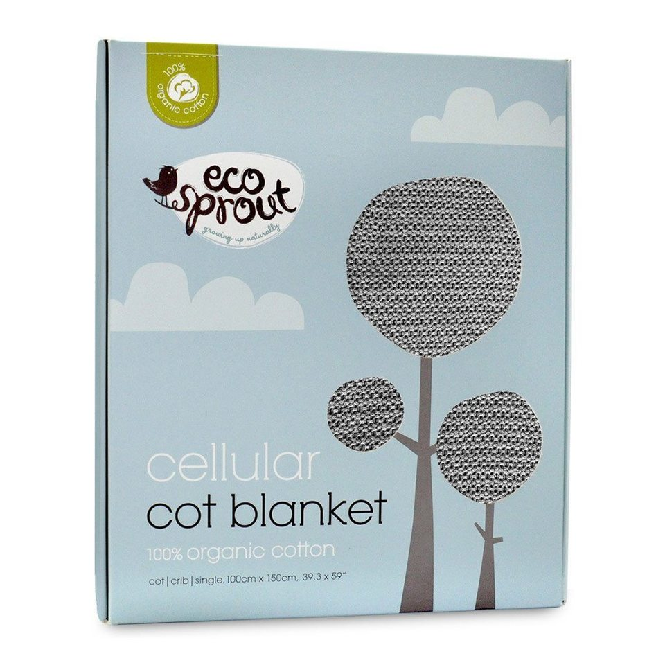 Organic Cotton Cellular Blanket Dove Grey