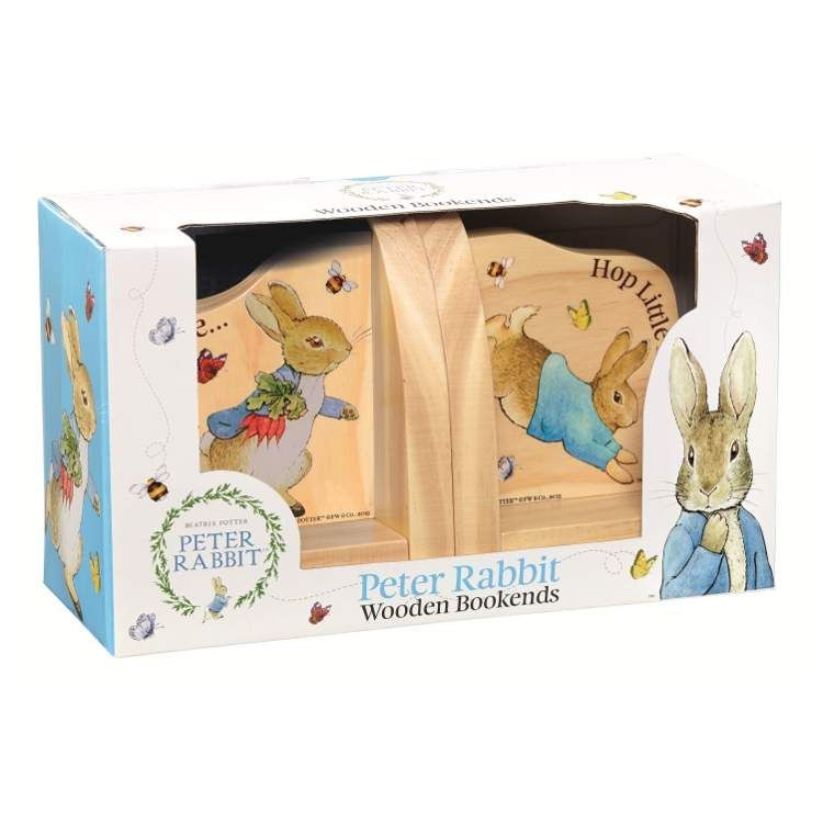 Peter Rabbit Wooden Bookends