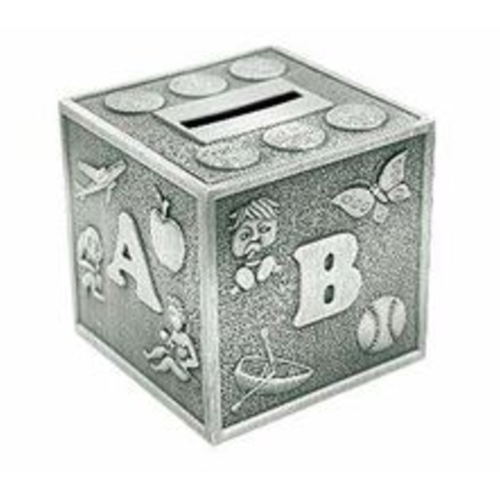 Pewter Plate ABC Money Bank