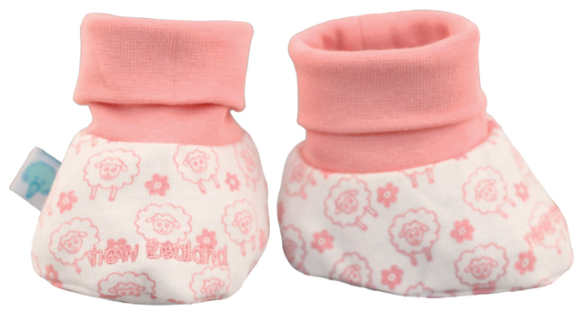 Baby Booties Pink Sheep