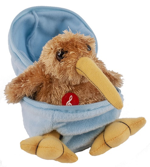 Kiwi Egg Soft Toy - Blue