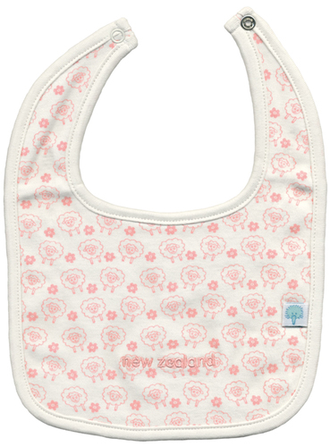 New Baby Gift Ideas Nz : Baby bib pink sheep